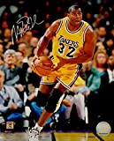 Magic Johnson Signed Autograph 8x10 Photo LA Lakers Dribbling Silver HOF COA