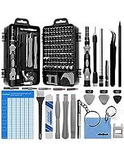 oGoDeal 127 i 1 mini finmekaniker skruvmejsel verktygsset och öppningsverktyg för iPhone, PC, bärbar dator, iPad, surfplatta, dator, MacBook, glasögon, Xbox, klockor, kamerareparation (grå)