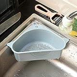 MOVEmen Kitchen Sink Storage Rack Multi Purpose Washing Bowl Sponge Multifunction Triangle Sponges Storage Shelf Washing Box Bathroom Kitchen Support Corner Shelf Unit Hanging Shelf Soap Box (Blue)