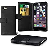 iPhone 6/6s Case, DN-Alive Wallet Book Case, Flip Case PU Premium Leather [Black] [Card Holder] iPhone 6/6s Cover - Id Holder [Drop Resistance] [Scratch Proof] [Shockproof] Case For iPhone 6