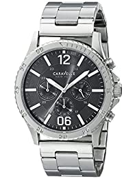 Bulova Caravelle New York  Men's 43A115 Silver/Charcoal Stainless Steel Watch