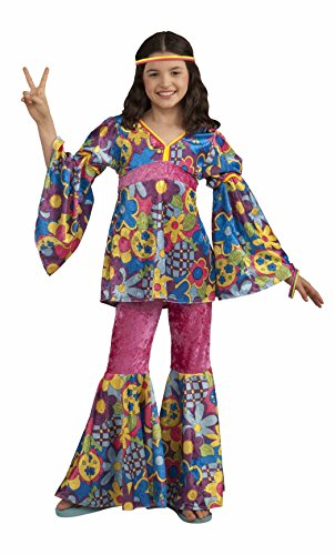 - Forum Novelties Deluxe Designer Collection Flower Power Costume, Child Large