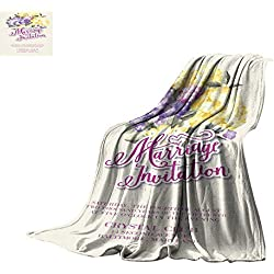 "Coverlet Invitation Card Template Throw Blanket 60""x35"""