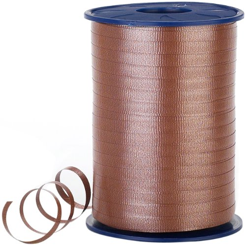 Morex Poly Crimped Curling Ribbon, 3/16-Inch by 500-Yard, Chocolate]()