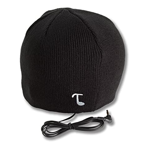 d06a875deb5 Amazon.com: Tooks Classic Headphone Beanie with Built-in Removable  Headphones - Color: Black: Home Audio & Theater
