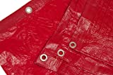 8 Ft. X 10 Ft. High Visibility RED Tarp - 3.3 Oz.