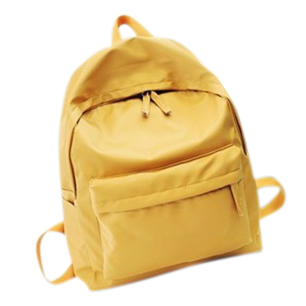 ThinkMax Womens Concise Nyoln Diagonal Lightweight Backpack Schoolbag Travel Bag Satchel Yellow