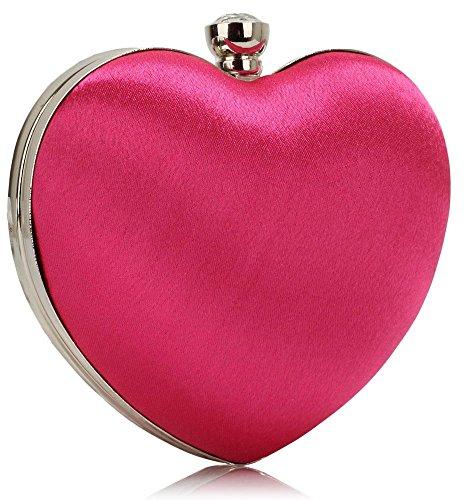 Sacs Rose Soirée Sac Diamante CWE00263 CWE0060 Hard Festival Mode De CWE0060 Heart Femme Glittery MariageFête Qualité LeahWard® nuit Love Main case RBEnFw