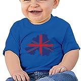EIE8RE Toddler Kids Boys Girls T-Shirt Classic UK Flag Printing Short Sleeve