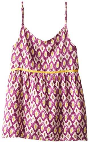 Roxy Big Girls' Sandy Shore Scribble Ikat Print Tank Top, Pink Mist, X-Large/14