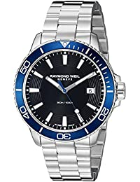 Mens Tango 300 Quartz Stainless Steel Diving Watch, Color: Silver ; Dial