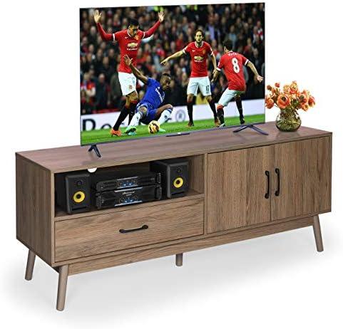 Mid-Century Modern Wooden TV Stand