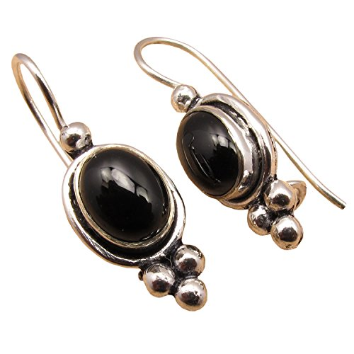 925 Silver Plated BLACK ONYX ONLINE SHOPPING Earrings Jewelry BESTSELLER - Free Shipping Returns Online And Shopping