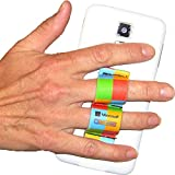 LAZY-HANDS 2-Loop Phone Grip - FITS MOST - Rainbow Checkers