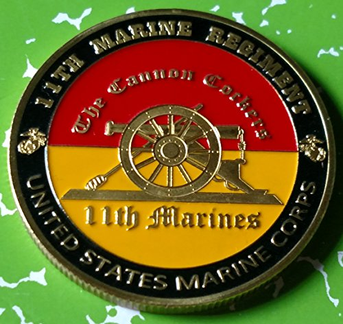 Usmc Marine Corps Challenge Coin (USMC Marine Corps 11th Marine Regiment Military Colorized Challenge Art Coin)