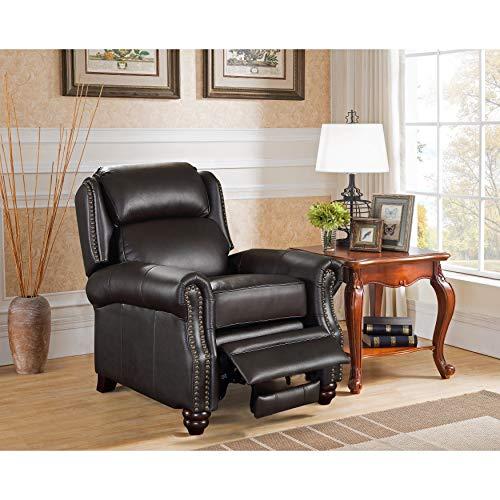 - Sofaweb.com Madison Brown Premium Top Grain Leather Recliner Chair