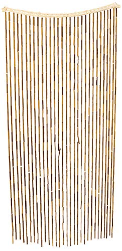 All Fun Gifts Bamboo Beaded Door Curtain - Assorted Designs (Brown) (Curtains Brown Beaded)