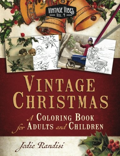 Vintage Christmas Coloring Adults Children product image