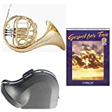 Band Directors Choice Single French Horn in F - Gospel For 2 Play Along Pack; Includes Student French Horn, Case, Accessories & Gospel For 2 Play Along Book