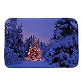 Christmas Decorations Clearance,Jchen(TM) Merry Christmas Welcome Doormats Indoor Home Decor Elk Snowman Print Carpets 40x60CM (G)