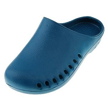 5e615932 B Baosity Zueco de Trabajo Antideslizante Zapatos Sanitarios Enfermera  Pantuflas de Casa para Mujer Hombre: Amazon.es: Deportes y aire libre