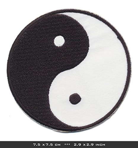 Yin Yang Iron Sew On Patches Taoism Harmony Meditation India China by - Store Disney India Online