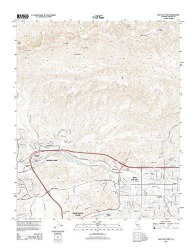 Topographic Map Poster - SIMI VALLEY WEST, CA TNM GEOPDF 7.5X7.5 GRID 24000-SCALE TM 2012 16