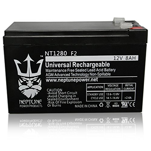 Neptune Power NT1280 F2, Replacement for ExpertPower EXP1280 12V8AH Rechargeable Battery by Neptune Power