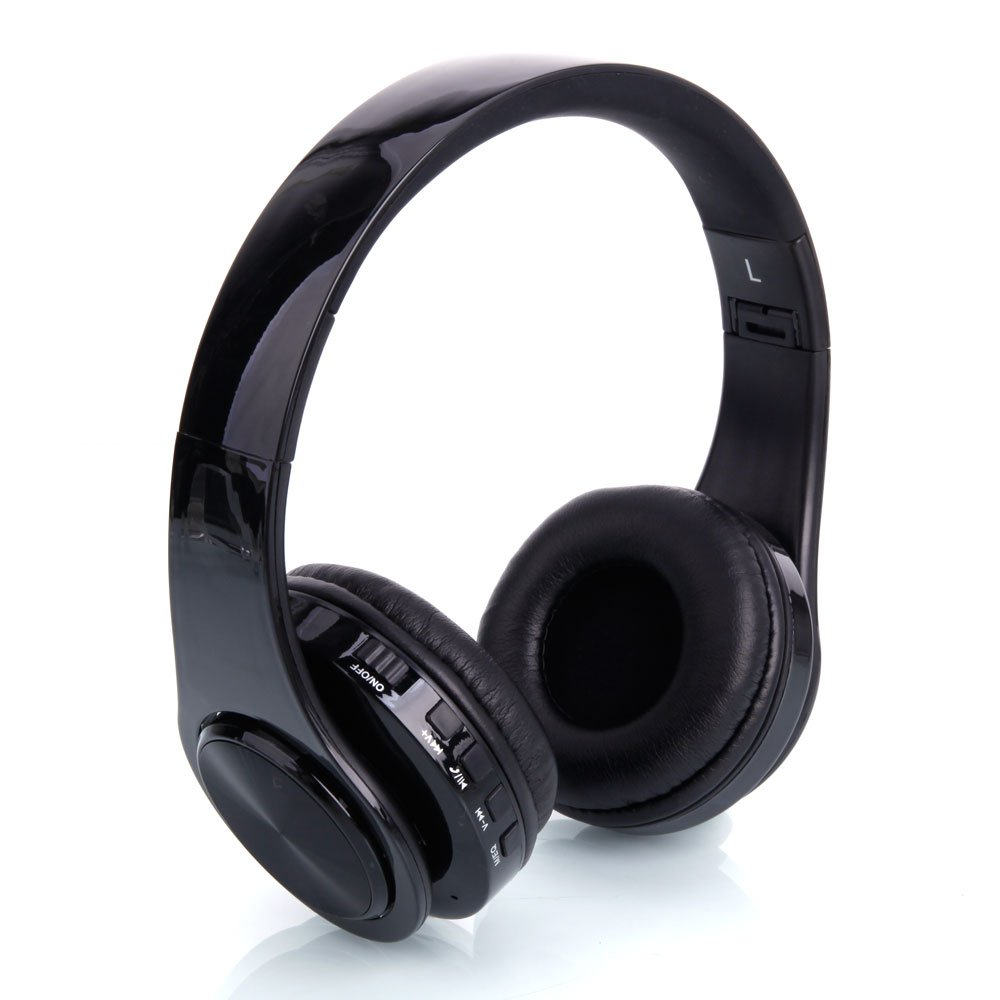 Acazon Wireless Bluetooth Over Ear Headphones, Hi-Fi Stereo Foldable Headset Earphones for iPhone/Android Phone/Tablet/iPad,US Stock (Black)