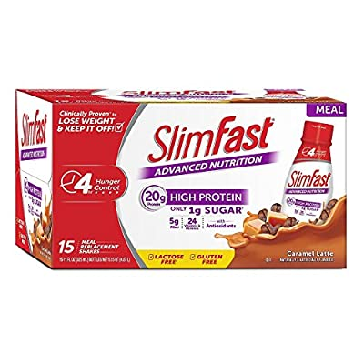 SlimFast Advanced Energy Caramel Latte Ready to Drink 1Pack (15 pk Each)