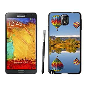 New Beautiful Custom Designed Cover Case For Samsung Galaxy Note 3 N900A N900V N900P N900T With Hot Air Balloon Lake Reflection Phone Case