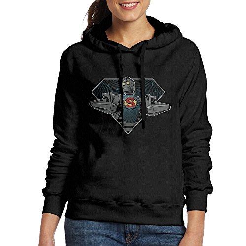 Bekey Women's The Iron Giant Signature Edition 7 Hoodie Sweatshirt L Black