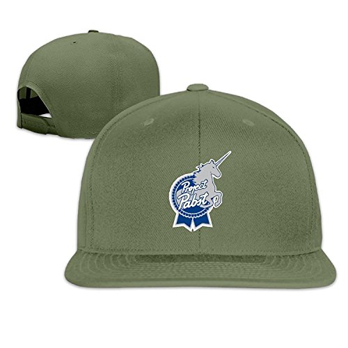 Men Women Adjustable Unicorn Pabst Blue Ribbon Baseball Cap Snapback Hip Hop Flat HatNatural