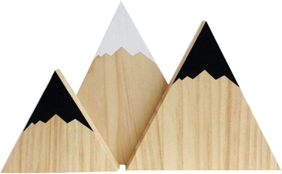 Baby Dusche Dekoration Home Schlafzimmer//Party Wingbind Mountain Style Dreieck Geformte Bl/öcke nordischen Stil aus Holz Handgefertigte Handwerk Kinderzimmer//Cradle Hochzeit//Geburtstag