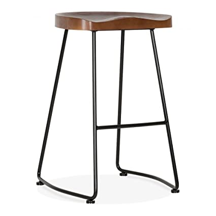 Cult Furniture Victoria Metal Bar Stool With Wood Seat Option