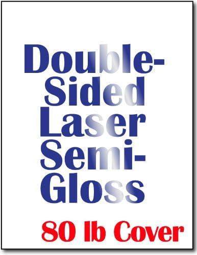 Amazon.com: Hojas cartulina Semi Gloss para impresoras láser ...