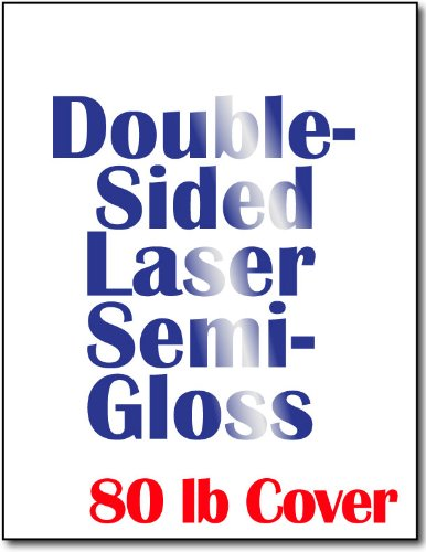 Double Sided Heavyweight Cardstock - Double Sided Semi Gloss Cardstock for Laser Printers - 50 Sheets