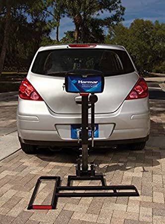 harmar mobility al015 micro power scooter/wheelchair lift outside fully  automatic carrier with ii/