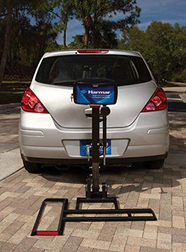 Harmar Mobility AL015 Micro Power Scooter/Wheelchair Lift Outside Fully Automatic Carrier with II/III Hitch Adapter & Wiring Harness & Swing-Away Arm
