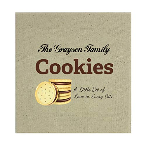 Style In Print Personalized Custom Text Chocolate Cookies Cotton Canvas Stretched Natural Canvas Printed Canvas - 8