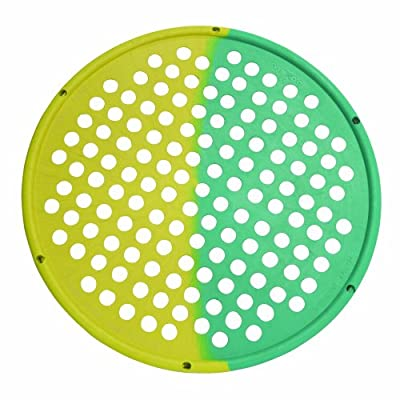 "Cando 10-0857 Yellow/Green Multi Resistance Web Hand Therapy Device, 14"" Diameter Latex, X-Light/Medium Resistance"