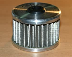 REUSABLE STAINLESS STEEL OIL FILTER HONDA UTILITY ATV TRX300 350 400 400EX 400X 450 500 and most adult XR XL MODELS (MAKE SURE THIS FILTER IS THE SAME SHAPE/DIMENSION AS YOURS PRIOR TO PURCHASE)