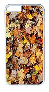 ACESR Autumn Leaves iPhone 6 Hard Shell Case Polycarbonate Plastics Customize Case for Apple iPhone 6(4.7 inch) White