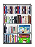 Meoket 4-tier Storage Cube Closet Organizer Book Shelf 8-cube Cabinet Bookcase Review