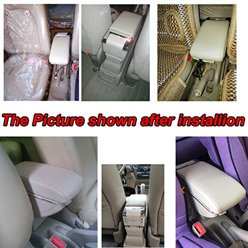 Black Color SZSS-CAR Leather Car Interior Parts Center Console Armrest Storage Box for Hyundai i10 2006~2017 Armrests with Cup Holder