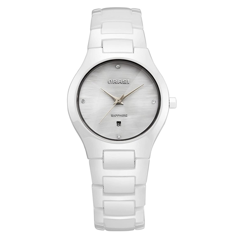 Ladyセラミック腕時計/防水ホワイトミニマリストWatches /アウトドアクォーツwatch-a B06XJ6KFBM