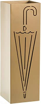 LOLAhome Parag/üero contempor/áneo Negro de Metal Cuadrado de Paraguas de 15x49 cm