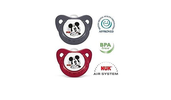 Nuk Chupete De Silicona Disney Mickey Mouse (0-6 Meses) 2 ...