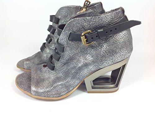 Modello Brindisi - 42 EU - Cuero Italiano Hecho A Mano Hombre Piel Púrpura Zapatos Vestir Oxfords - Cuero Cuero Repujado - Encaje DtmTa