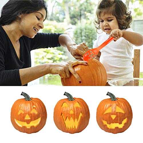 BOBOO Pumpkin Carving Set Halloween Engraving Set Child Carving Tools, 5 Pumpkin Carving Kits, 2 LED Candles and 10 Halloween Style Molds - Pumpkin Party Decoration by BOBOO (Image #6)